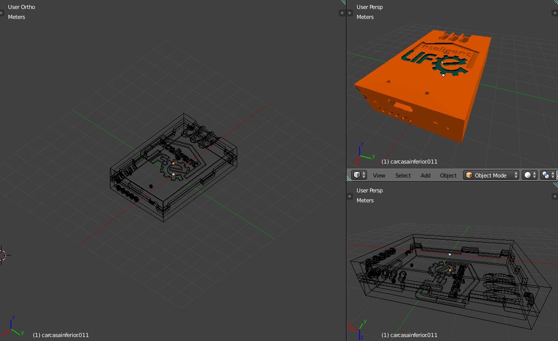 Desarrollo de objetos 3D e impresión en 3D Intelligent Life