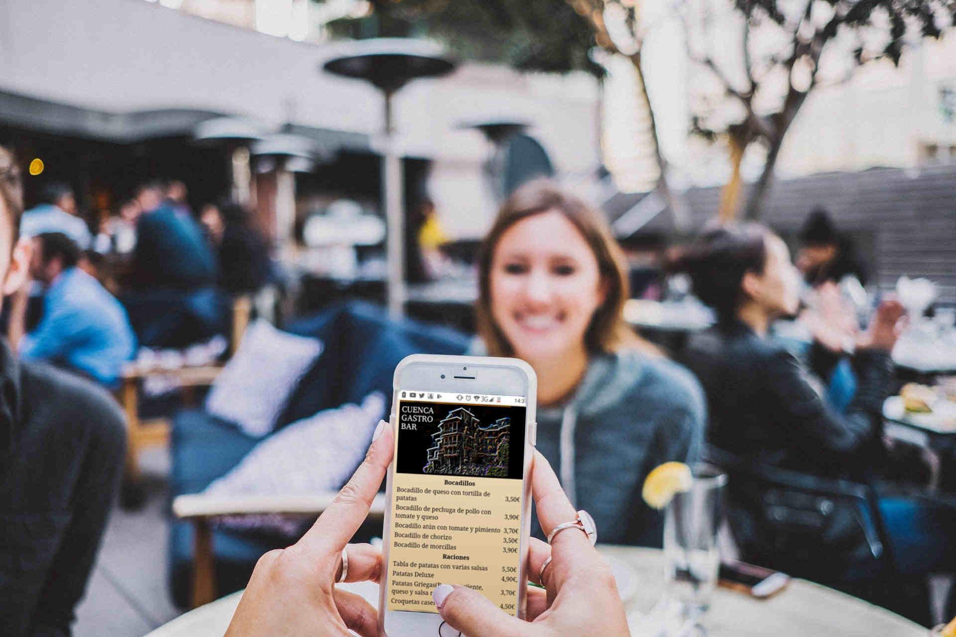 Servicio Carta digital Bar Solución Hostelería Intelligent Life
