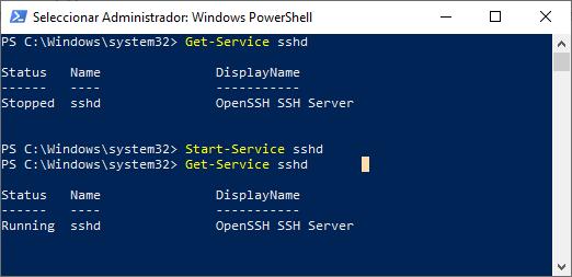 SSH y SCP con Windows 10 activar SSH Intelligent Life